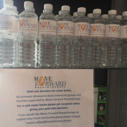 Move Forward spring water bottles for local community!